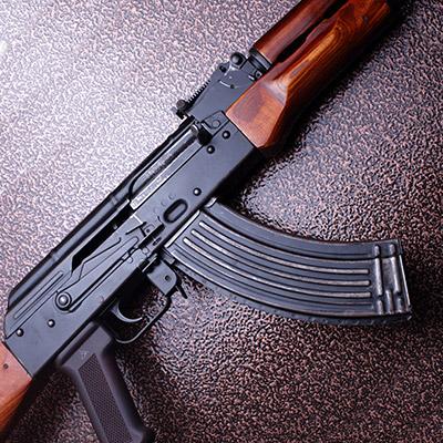 AK 47 rapid fire