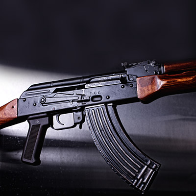 AK 47 single and rapid fire, reload