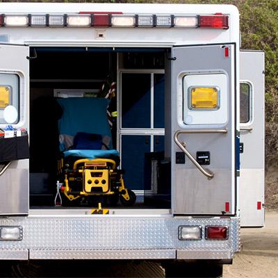 Ambulance, rear loading door, car, auto - 02