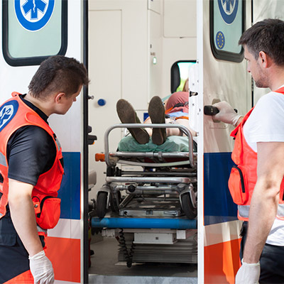 Ambulance, rear loading door, car, auto - 01