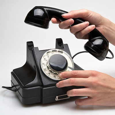 Antique rotary telephone, dial ten numbers - 01