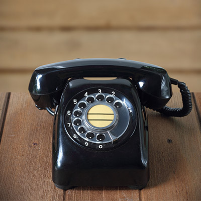 Antique rotary telephone, dial ten numbers - 03
