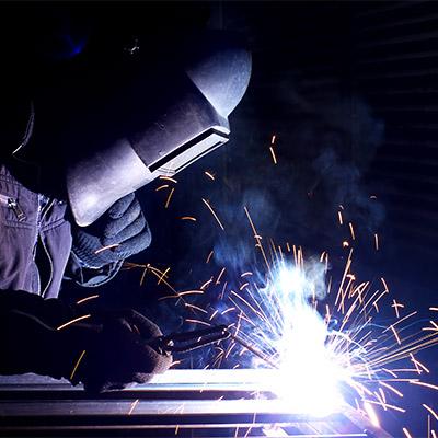 Arc welding, welder, spark