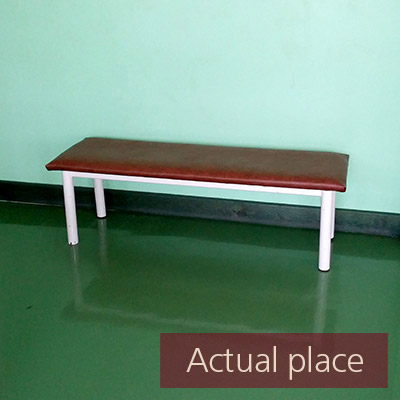 Bench, movement in a big hall