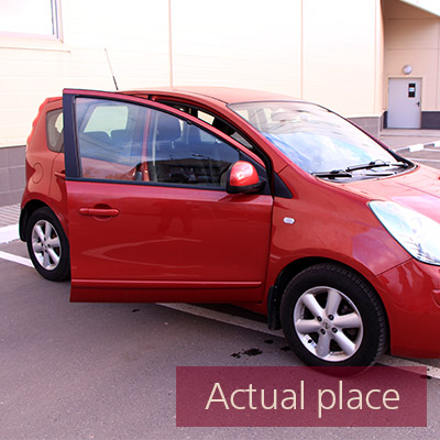 Car door, open and close, external, Nissan Note - 01