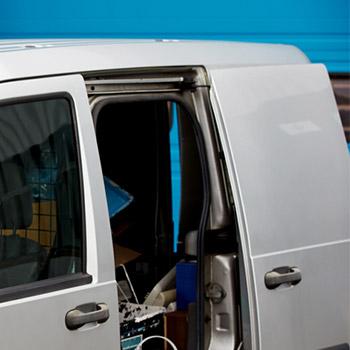 Cargo van sliding door, open, close, external - 01