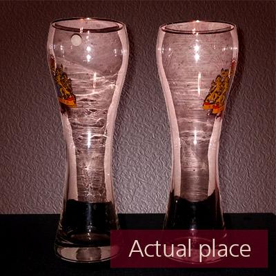 Clinking glasses, toast, few beer glasses