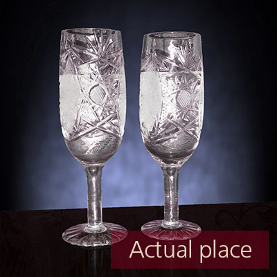 Clinking glasses, toast, two wine glasses - 05