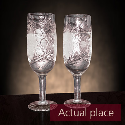 Clinking glasses, toast, two wine glasses - 06