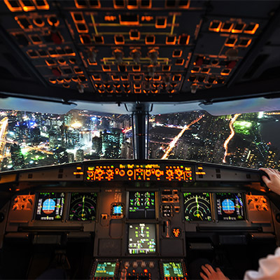 Cockpit A320 take off, aircraft, airplane