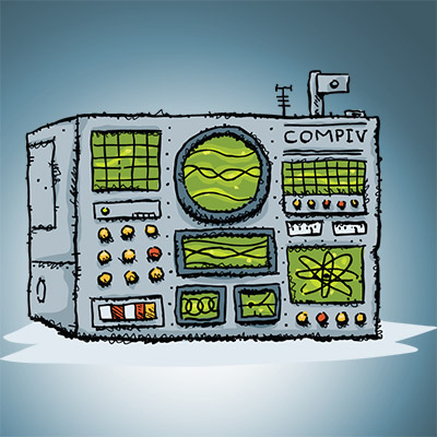 Digital signals, beeps, communicator, buzzing