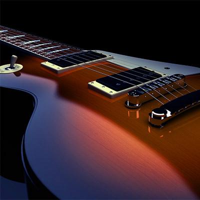 Electric guitar, amplifier feedback - 01