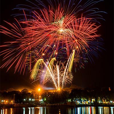Fireworks far distance - 02