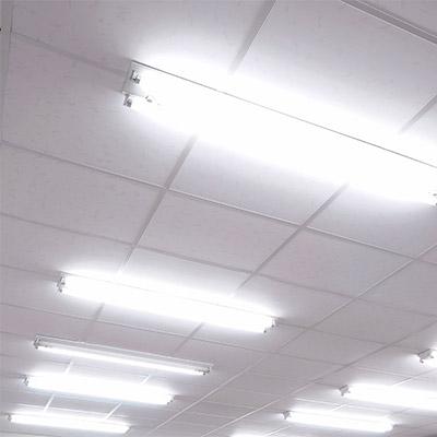 Fluorescent light, switch on