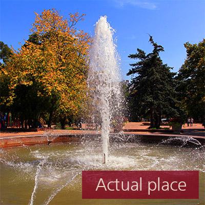 Fountain in park - 01