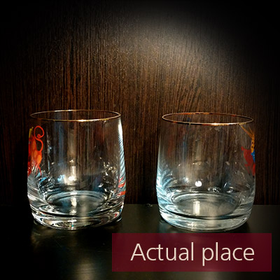 Glasses clink, toast, thin glass mugs - 01