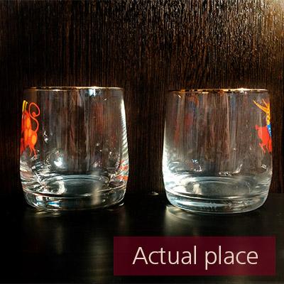 Glasses clink, toast, thin glass mugs - 02