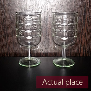 Glasses clink, toast, two small shot glasses - 03