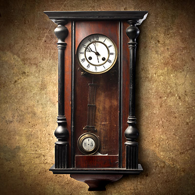 Grandfather clock ticking - 01