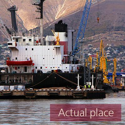 Harbor, harbour, seaport, crane, ship