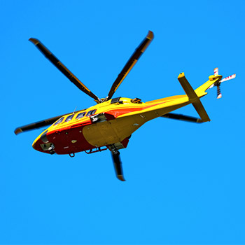 Helicopter fly by overhead