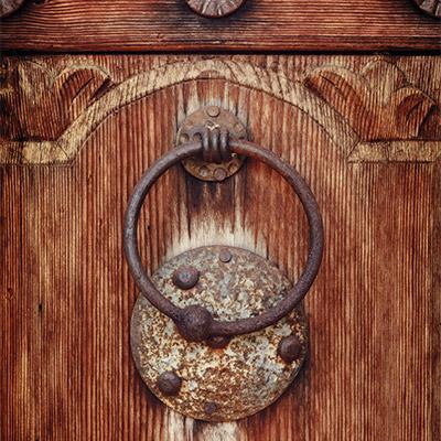 Door knocker, metal door handle