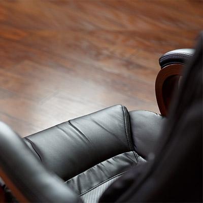 Leather, hard creak, squeaky chair