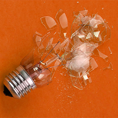 Light bulb break, crash, smash - 02