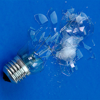 Light bulb break, crash, smash - 03