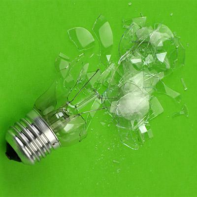 Light bulb break, crash, smash - 01
