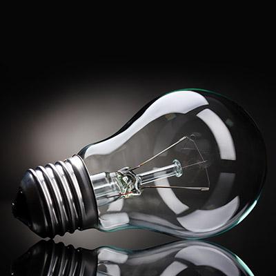 Light bulb, hit on wall