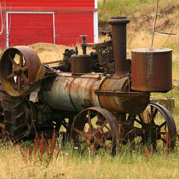 Old steam engine, vintage, antiques