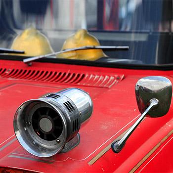 Old ambulance siren, alarm, fire, police - 01