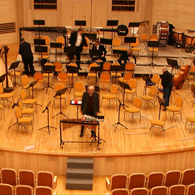Orchestra tuning up - 03