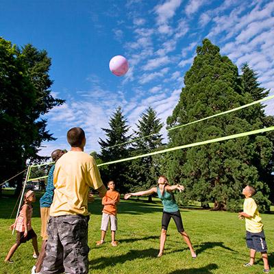 Playground, children, volleyball