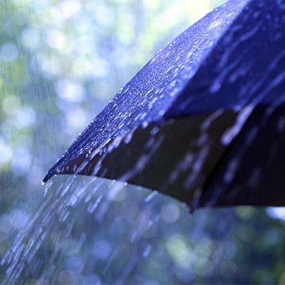 Rain on umbrella - 01