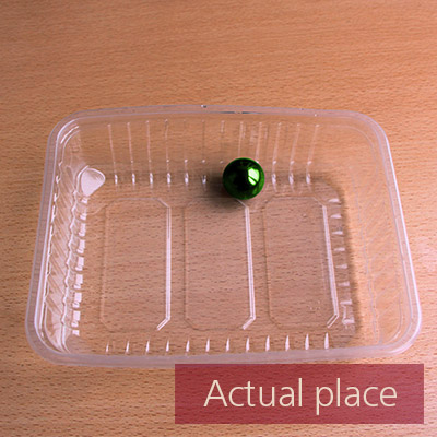 Rotating plastic box with small ball inside - 01
