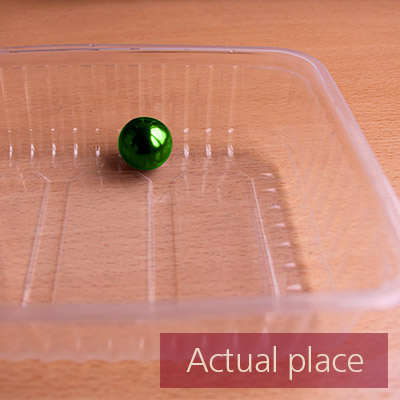 Rotating plastic box with small ball inside - 02