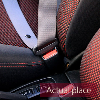 Seat belt, pull and lock, Nissan Note
