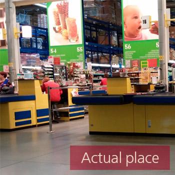 Shop, store ambience, cashier registers
