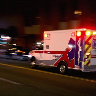 Siren, ambulance, fire, police, drive off - 01