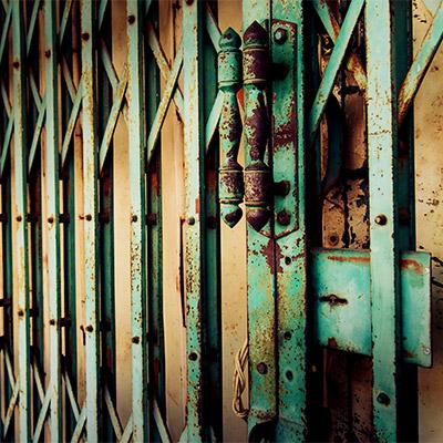 Sliding metal gates