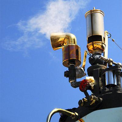 Steam locomotive whistle
