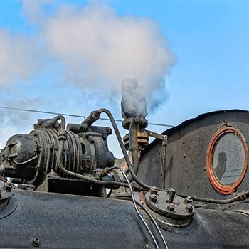 Steam train whistle