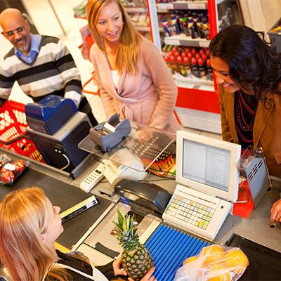 Store, shop, cash registers, crowd
