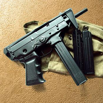 Submachine gun cocking PP-91 Kedr
