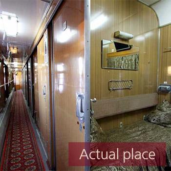 Train compartment sliding door, open and close