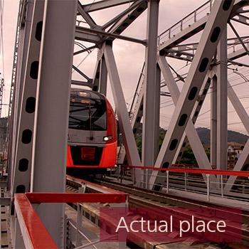 Train passing over bridge - 01