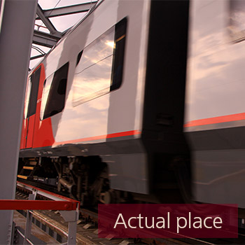 Train passing over bridge - 02