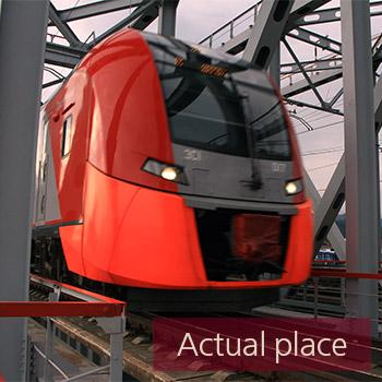 Train passing over bridge - 03